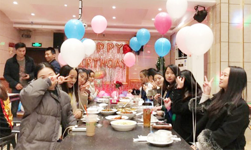 Yangxin injection molding machine January birthday party